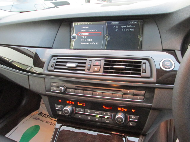528i ワンオーナー ブラックレザー オプション18インチアルミ 地デジ 右ハンドル車両画像15
