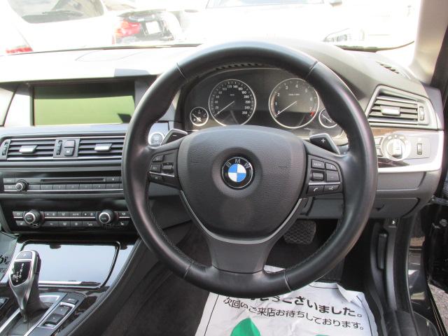 528iBEAMコンプリートカー ブラックレザー パドルシフト 本革レザーステア車両画像15