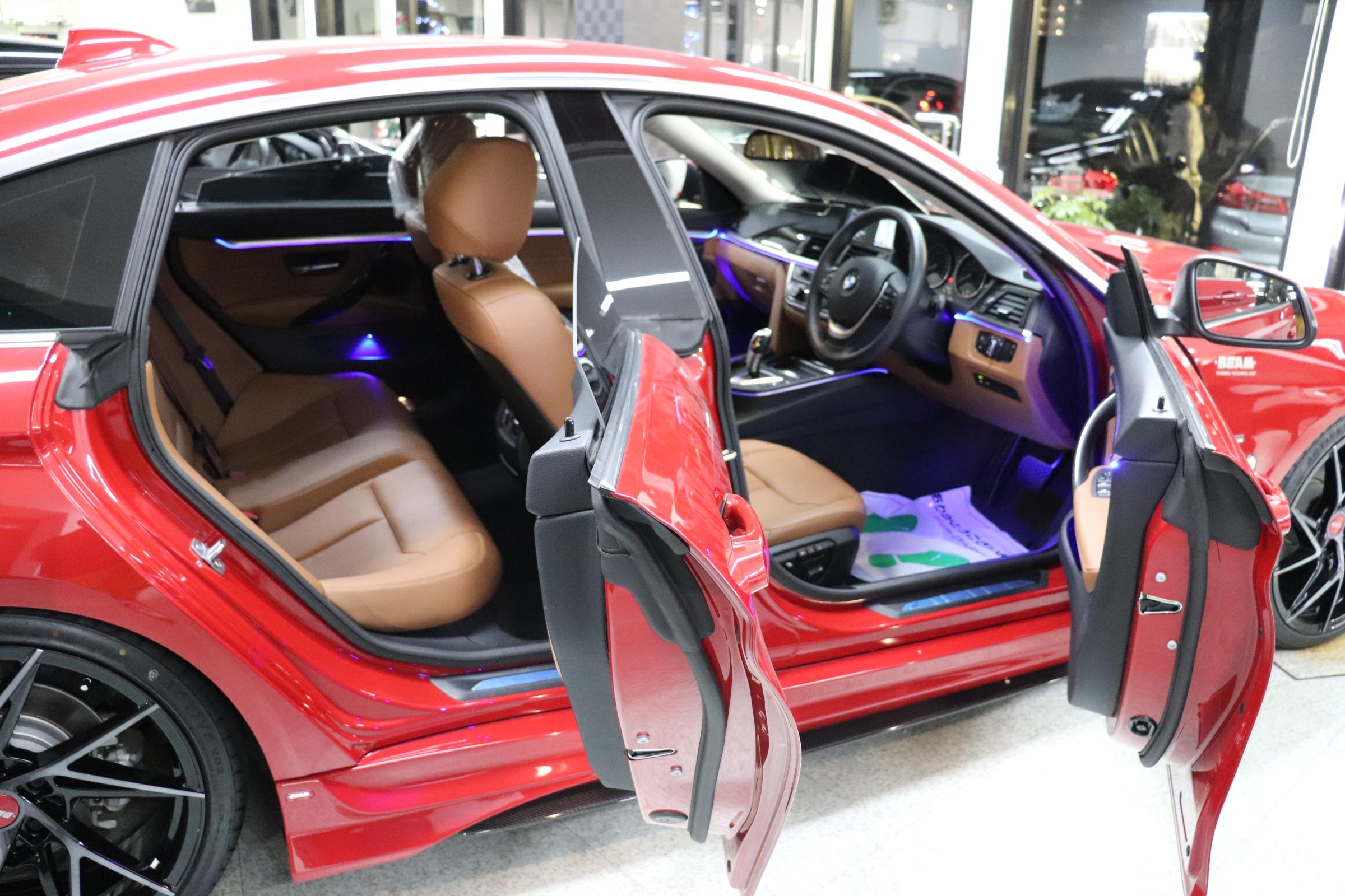 420iグランクーペラグジュアリーBEAMコンプリートカー 茶革 LEDヘッドライト車両画像15
