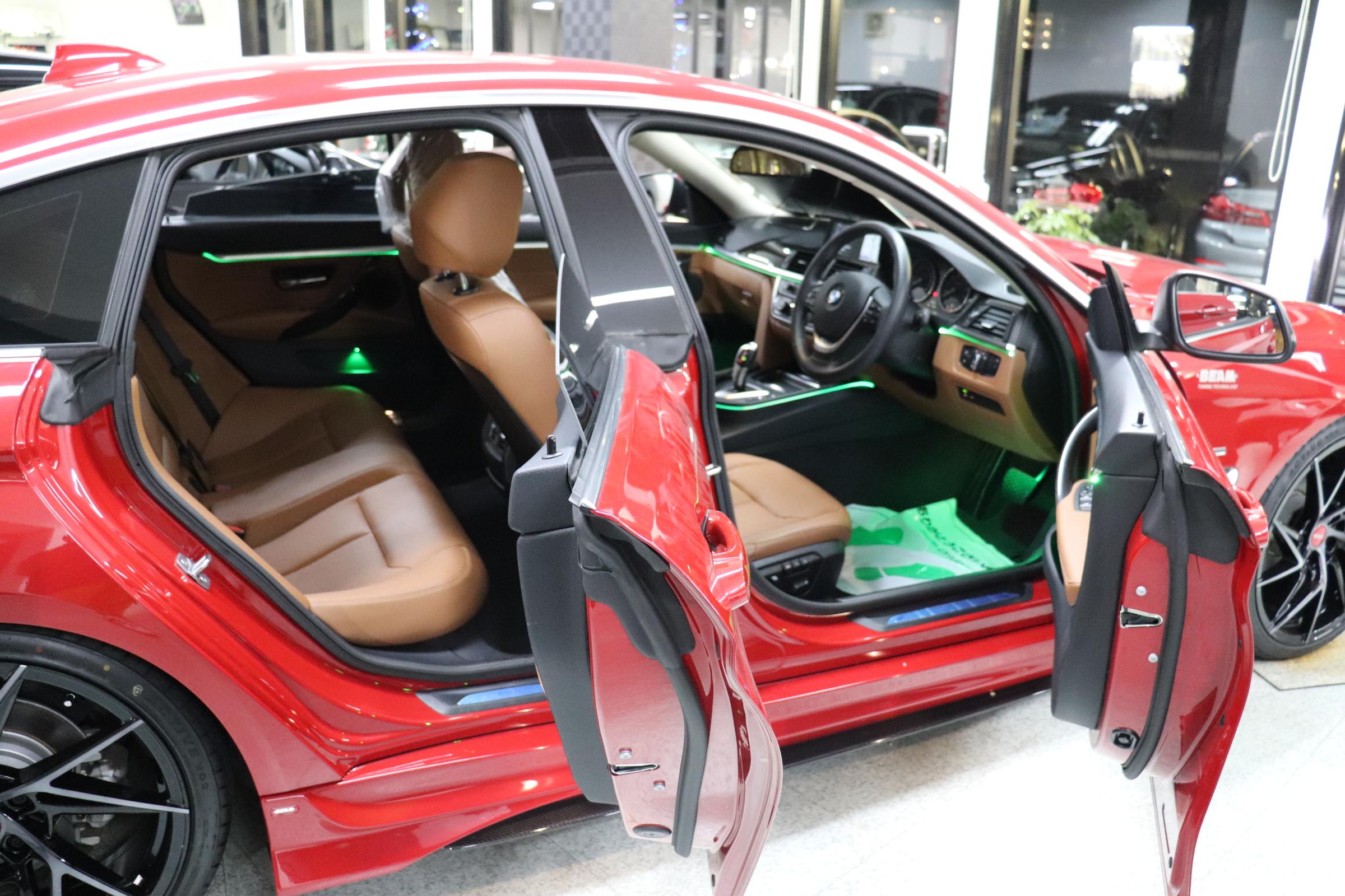 420iグランクーペラグジュアリーBEAMコンプリートカー 茶革 LEDヘッドライト車両画像14